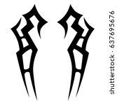 tribal tattoo art designs.... | Shutterstock .eps vector #637695676