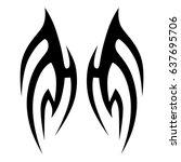 tattoo tribal vector design....   Shutterstock .eps vector #637695706