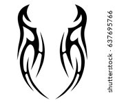 tattoo tribal vector designs.... | Shutterstock .eps vector #637695766