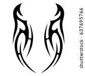 tribal tattoo art designs.... | Shutterstock .eps vector #637695766
