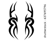 tribal tattoo art designs.... | Shutterstock .eps vector #637695796