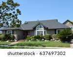 beautiful homes and estates in ... | Shutterstock . vector #637697302