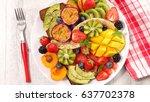 fresh fruit for healthy... | Shutterstock . vector #637702378