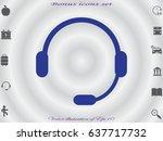 headphones  icon  vector...