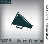 megaphone icon   Shutterstock .eps vector #637741198
