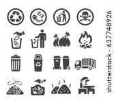 waste garbage icon | Shutterstock .eps vector #637748926