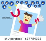 illustration vector of content... | Shutterstock .eps vector #637754338