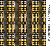 striped geometric seamless...   Shutterstock .eps vector #637755022
