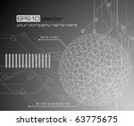 technology background   vector...