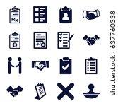 agreement icons set. set of 16...   Shutterstock .eps vector #637760338