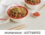 homemade steamed chinese... | Shutterstock . vector #637768552