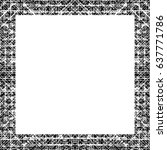 grunge black white square... | Shutterstock .eps vector #637771786