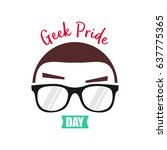 geek pride day. suitable for... | Shutterstock .eps vector #637775365