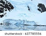 Glaciers Lining The Lemaire...