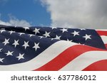 American Flag Fluttering In Th...