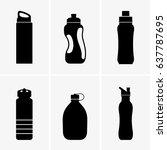 touristic bottles | Shutterstock .eps vector #637787695