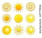 suns. elements for design. | Shutterstock .eps vector #63779026
