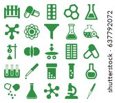 chemistry icons set. set of 25... | Shutterstock .eps vector #637792072