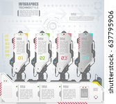infographics elements in techno ...