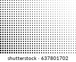 abstract halftone dotted... | Shutterstock .eps vector #637801702