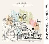 nagpur  maharashtra  india.... | Shutterstock .eps vector #637806196