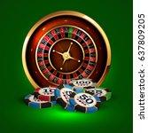 casino advertising design with... | Shutterstock .eps vector #637809205