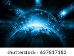 best internet concept of global ... | Shutterstock . vector #637817182
