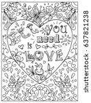 Decorative Coloring Page With...