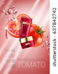 tomato skin care series ads.... | Shutterstock .eps vector #637842742