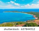 capo coda cavallo shore in...   Shutterstock . vector #637844512