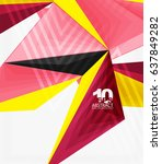 3d modern triangle low poly... | Shutterstock .eps vector #637849282