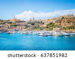 panoramic bay view of mgarr ...   Shutterstock . vector #637851982