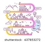 vector illustration of city... | Shutterstock .eps vector #637853272