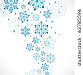 snow background  vector... | Shutterstock .eps vector #63785596