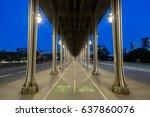 bir hakeim bridge in paris.... | Shutterstock . vector #637860076