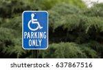 Handicapped Parking Sign.