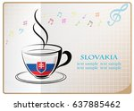 coffee logo made from the flag...   Shutterstock .eps vector #637885462