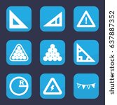 triangle icon. set of 9 filled...   Shutterstock .eps vector #637887352