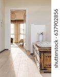 elegant house hallway with... | Shutterstock . vector #637902856