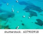 boats in the sea of sardinia ... | Shutterstock . vector #637903918