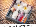 toiletries tube in a luxury... | Shutterstock . vector #637916716