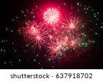 salute in the night sky | Shutterstock . vector #637918702