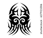 tattoo tribal vector designs....   Shutterstock .eps vector #637921006