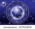 science abstract background | Shutterstock .eps vector #637925878