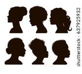 women's elegant silhouettes... | Shutterstock .eps vector #637925932