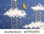 dream at night. sweet blue... | Shutterstock . vector #637932592