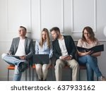 group of young creative people... | Shutterstock . vector #637933162