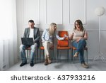 group of young creative people... | Shutterstock . vector #637933216