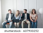 group of young creative people... | Shutterstock . vector #637933252