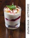 berry dessert | Shutterstock . vector #637933432